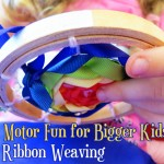 Fine motor activities for school aged kids_ Ribbon Weaving
