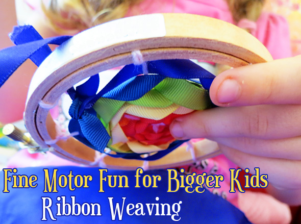 Fine Motor Fun for Bigger Kids: Ribbon Weaving