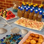 Mermaid beach party menu via Childhood 101