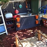 our play space mud kitchen featured at Childhood 101