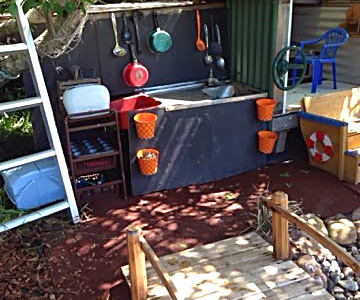 Our Play Space: Outdoor Play Mud Kitchen