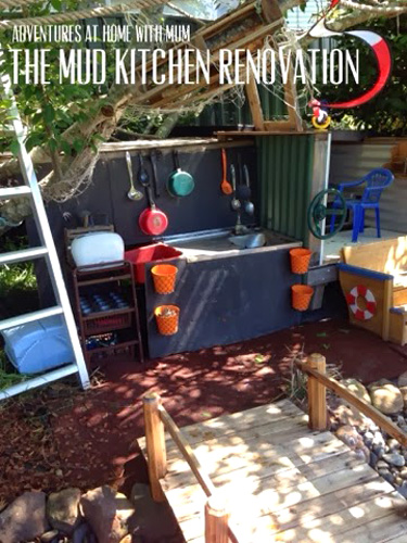 Our play space mud kitchen