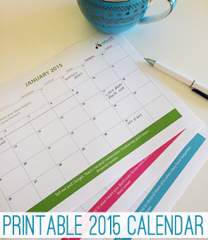 2015 free printable calendar download