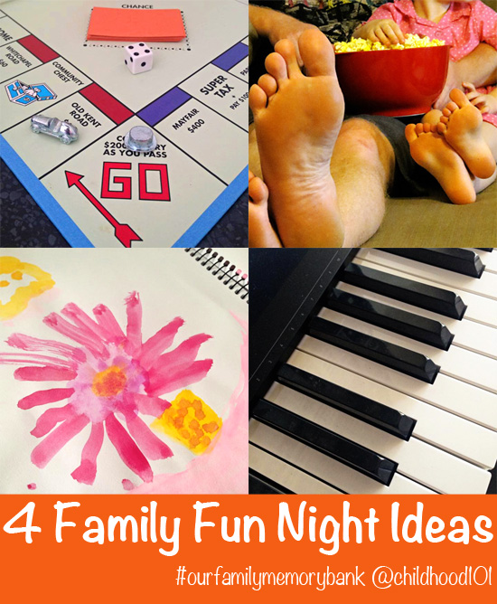 4 Family Fun Night Ideas via Childhood 101