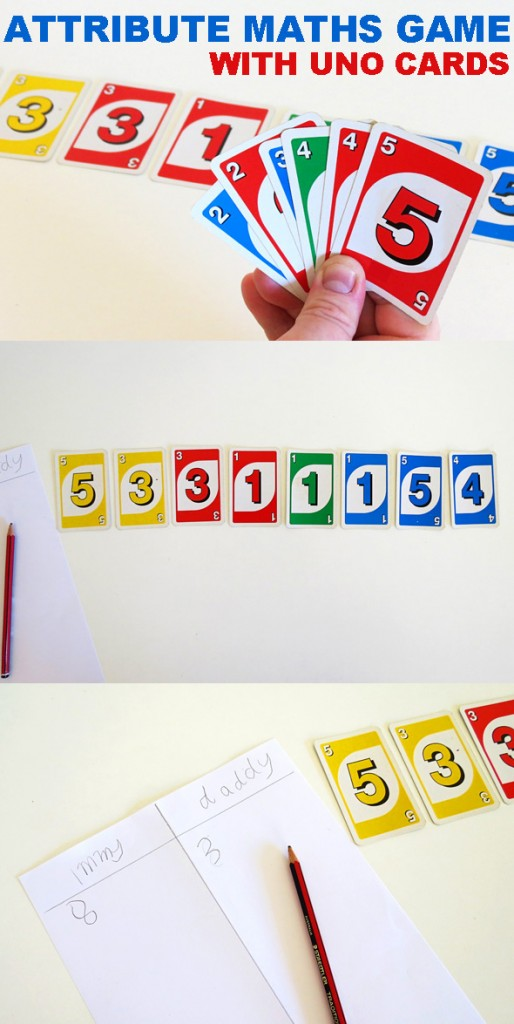 Math Games Attribute Trains With Uno Cards Childhood101