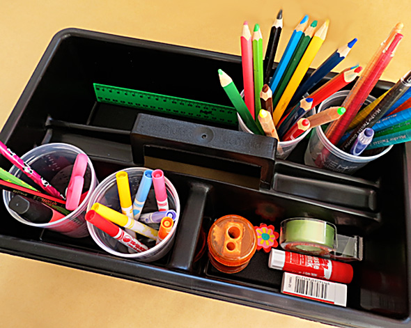 Getting Kids Organised: DIY Homework Caddy