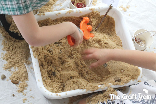 Sensory Play Activities: Sand Box Diamond Mine