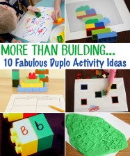 Duplo block activity ideas