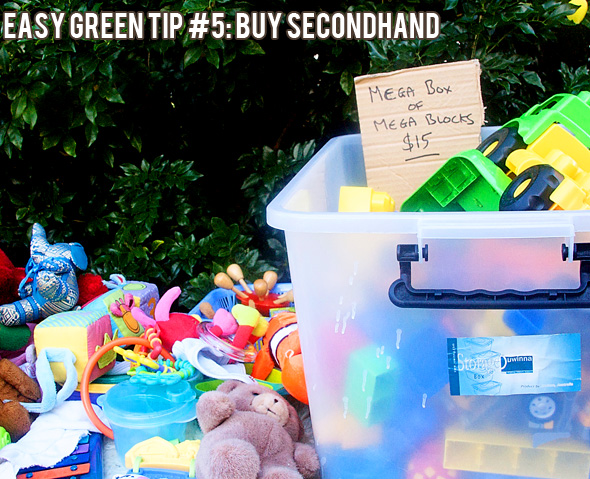 Easy green tips for frugal living: Buy secondhand