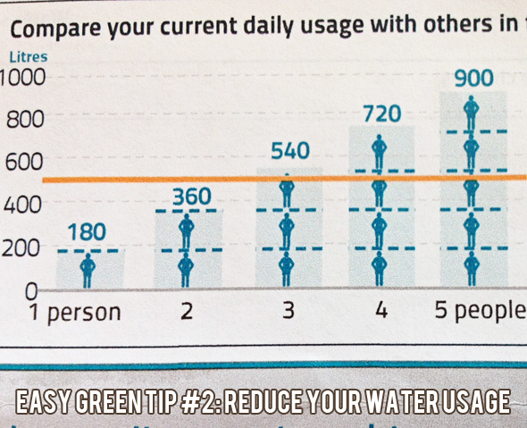 Easy green tips for frugal living:Reduce water usage
