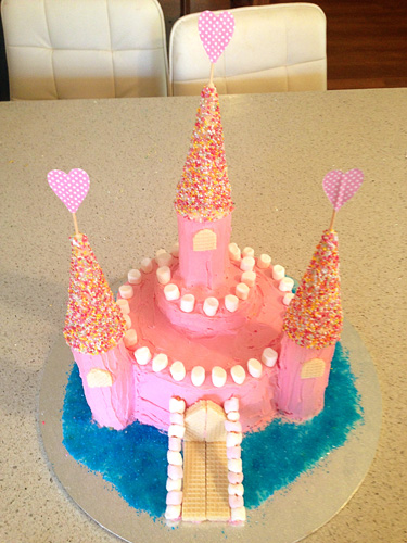 Fairy castle birthday cake