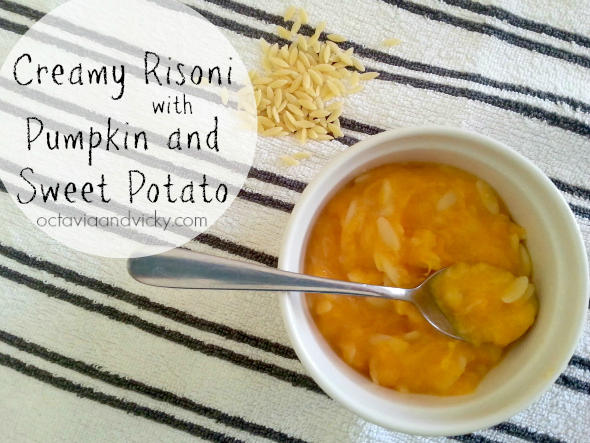 Family Dinner Recipes - Creamy risoni with pumpkin and sweet potato {Octavia and Vicky guest post on Childhood 101}