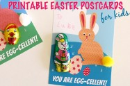 YOU ARE EGG-CELLENT! Easter craft and free printable postcard for kids to make for family, friends or classmates