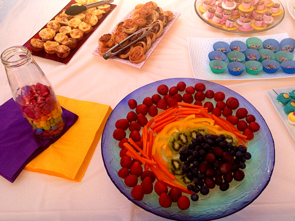 Rainbow fairy party food