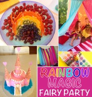 Rainbow fairy party via Childhood 101