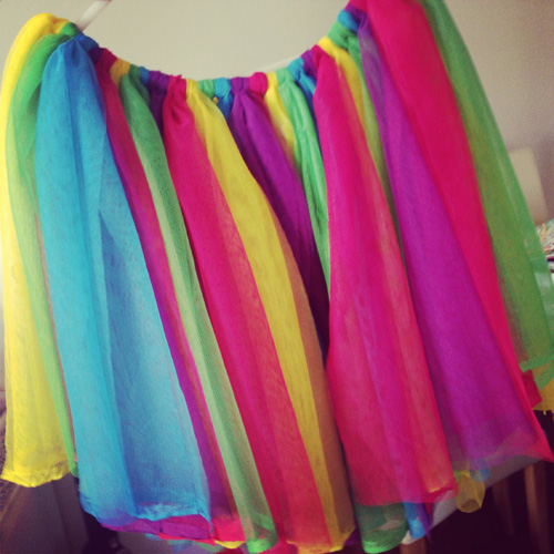 Rainbow party costume