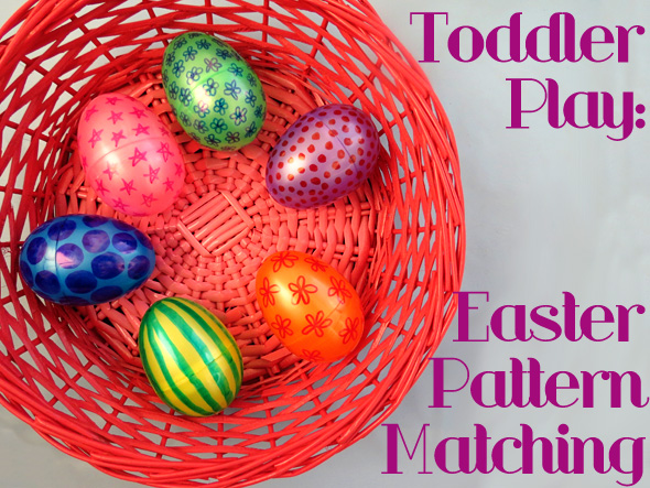 Activities for toddlers Easter Pattern Matching