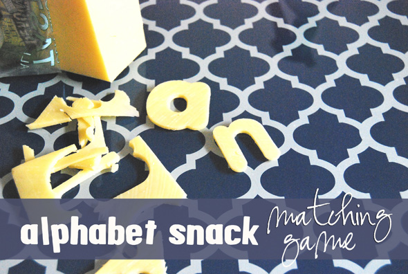 Alphabet Games Matching Snack