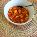 Homemade baked beans recipe via Childhood 101