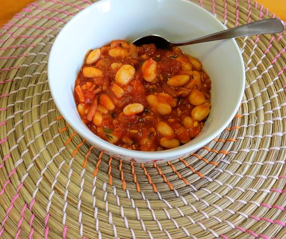 Homemade baked beans recipe via Childhood 101