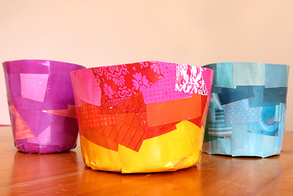 Paper mache pots