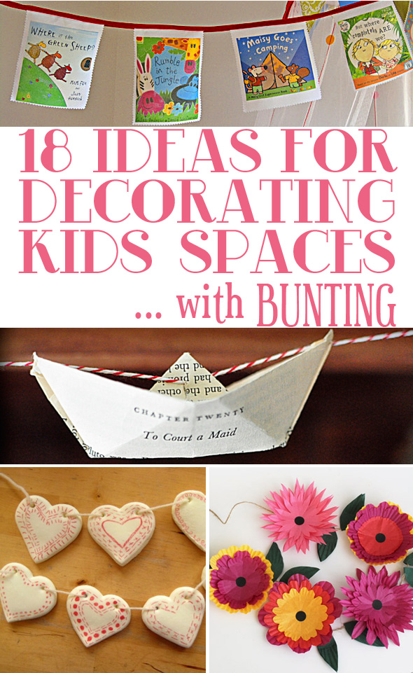18 ideas for decorating kids spaces with bunting comp