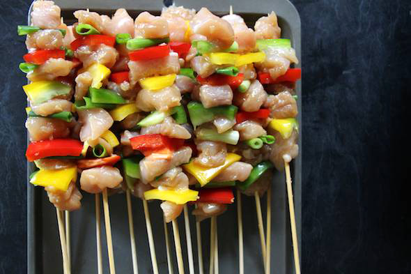 Easy Dinner Recipes Chicken Kebabs via Childhood 101