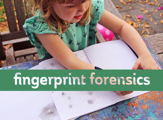 Science for kids: Fingerprint forensics