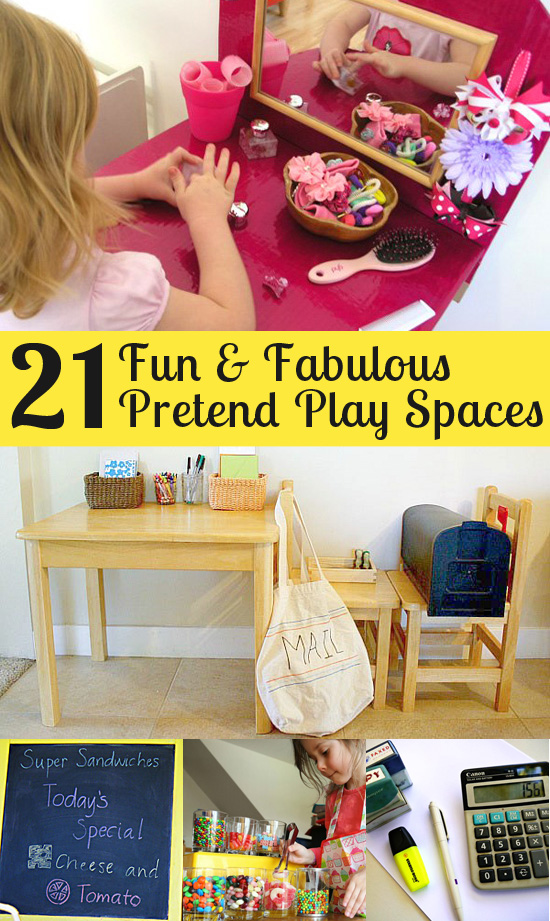 21 fabulous pretend play spaces featured at Childhood101