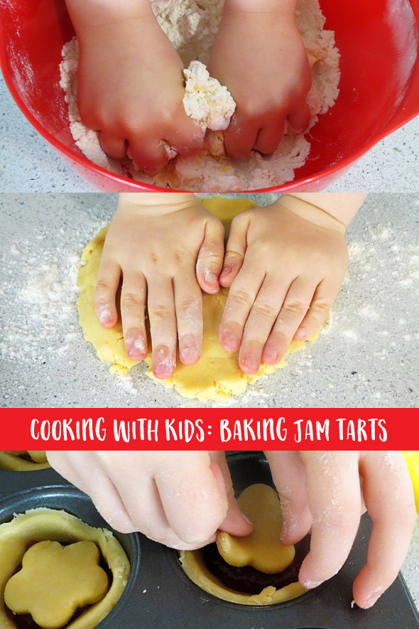 Cooking WIth Kids: SImple Jam Tarts Recipe. Perfect for baking with kids.
