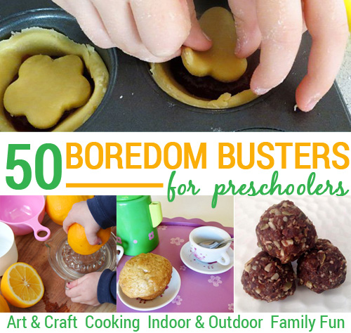 50 Preschool boredom busters activity ideas