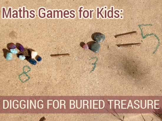 Maths Games for Kids: Digging for Buried Treasure