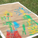 Kids art projects_DIY rug painting PIN