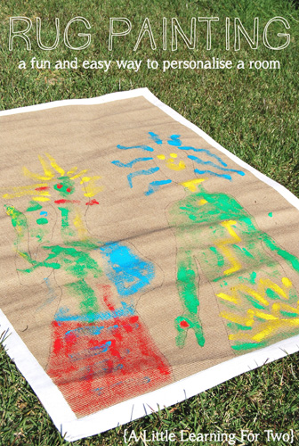 Art Projects for Kids: Rug Painting