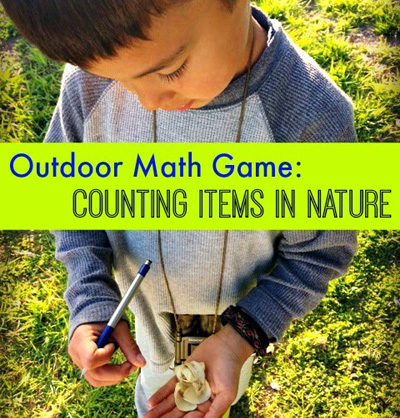 Outdoor Math Game - Counting Items in Nature