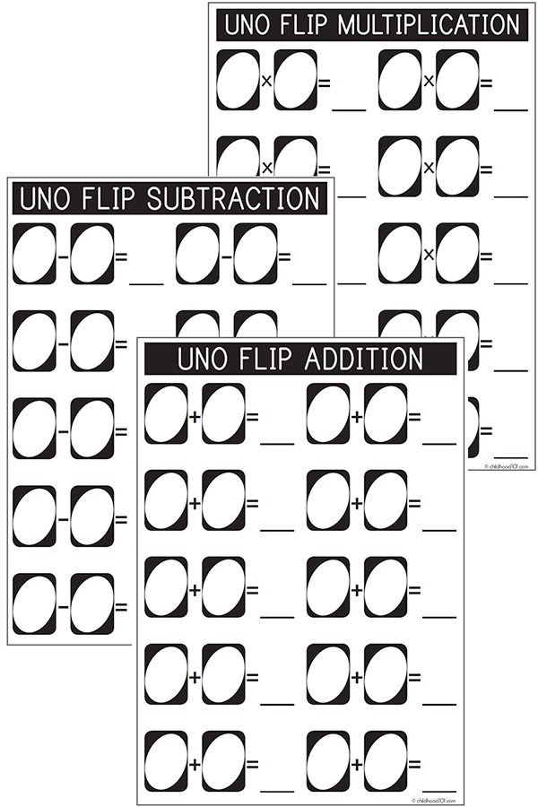 Uno Flip Printable Record Sheet