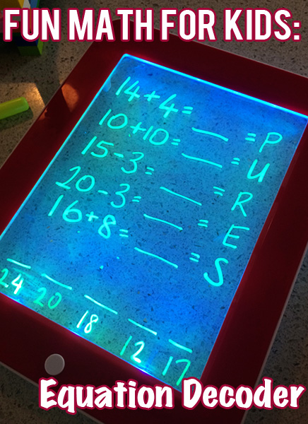 Math Games: Equation Decoder Game for Kids
