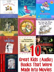 10 Great Kids Audio Books That Were Made Into Movies