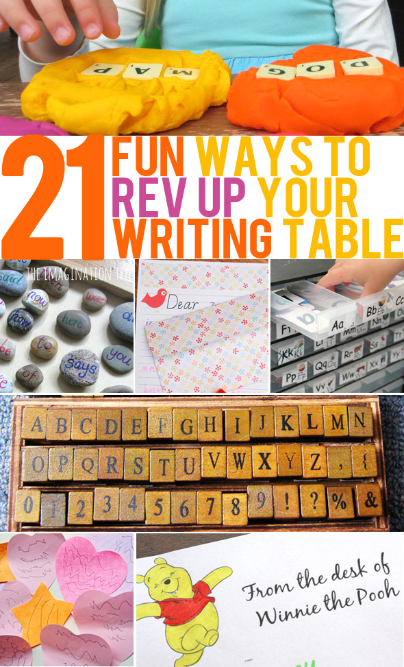 21 Fun Ways to Rev Up Interest In Your Writing Table