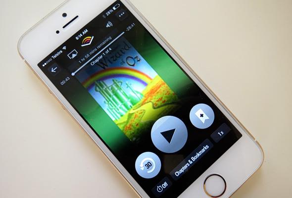 Audible app for audiobooks