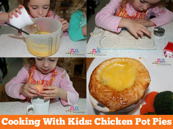 Cooking with Kids: Chicken Pot Pies a family friendly recipe