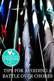 Parenting Tweens: Tips for Avoiding a Battle Over Chores