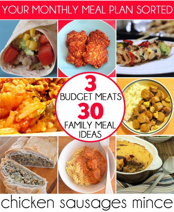 3 Budget 30 Family Meal Ideas