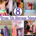 8 dress up storage ideas featured at Childhood 101