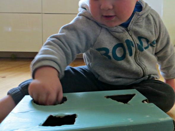 Toddler Play Ideas: Rocks and a Box