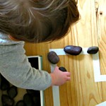 Toddler Play Activities: Rocks and a Box