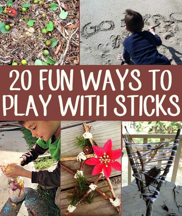20 Ways to Play with Sticks