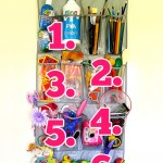 Kid's playroom a complete mess? Check out this handy storage idea - one rack, eight playful solutions