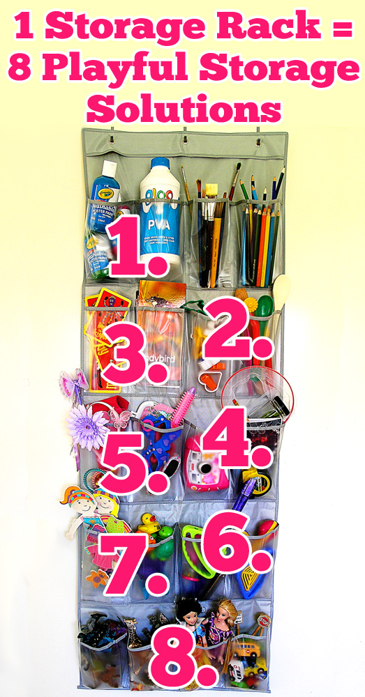 1 Storage Rack = 8 Playful Storage Solutions