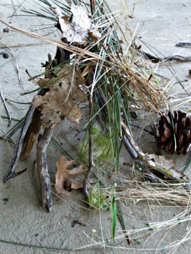 Outdoor Activities for Kids-Fairy houses with Sticks